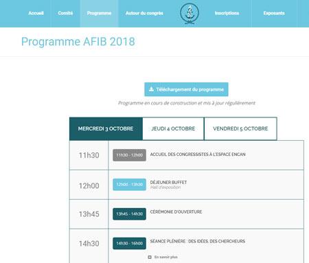 congres AFIB 2018
